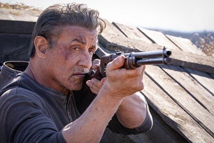 Sylvester Stallone as Rambo in