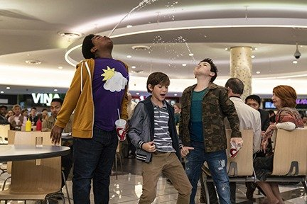 Keith L. Williams as Lucas, Jacob Tremblay as Max, and Brady Noon as Thor in