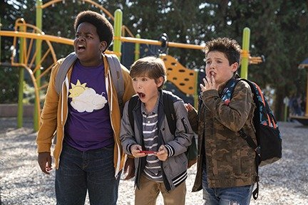Keith L. Williams as Lucas, Jacob Tremblay as Max and Brady Noon as Thor in