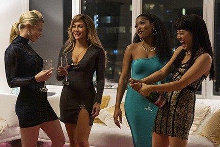 Lili Reinhart as Annabelle, Jennifer Lopez as Ramona, Keke Palmer as Mercedes, and Constance Wu as Destiny in